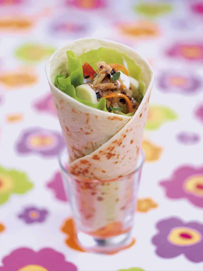 Cornets-de-salade-Paradis-à-émietté-de-maquereau-en-conserve-la-belle-iloise